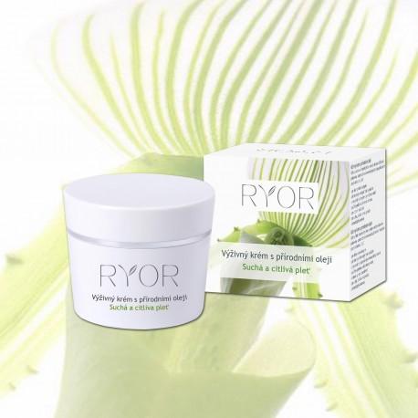 Výživný krém s prírodnými olejmi 50ml Ryor