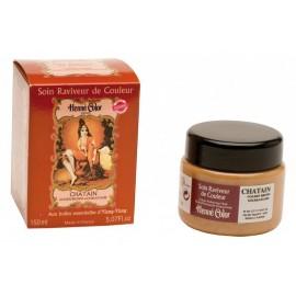 Henna tonizujúca a vyživujúca maska Chatain -gaštanová 150 ml - Henné color