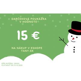 Vianočná darčeková poukážka v hodnote 15€