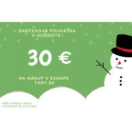 Vianočná darčeková poukážka v hodnote 30€