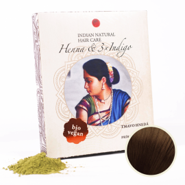 Indická Henna & 3xIndigo 200g (tmavo hnedá farba) - Indian Natural Hair Care