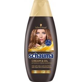 Schauma Cream & Oil – šampón na lámavé vlasy a rozštiepené končeky s argánovým olejom a vanilkou 400 ml