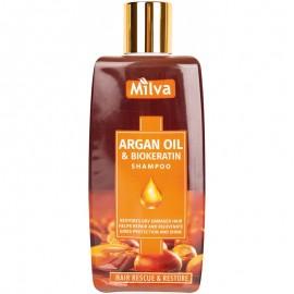Šampón s arganovým olejom a biokeratínom 200ml - Milva