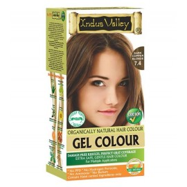 Gélová farba na vlasy Tmavomedená Blond 7.4 - Indus Valley