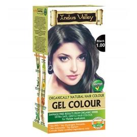 Gélová farba na vlasy s Hennou Čierna 1.0 - Indus Valley