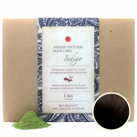 Indigo 1Kg (kombinovateľné s hennou: červeno-hnedý až čierny odtieň) - Indian Natural Hair Care