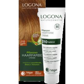 Krémová farba na vlasy s Hennou copper red 150ml - Logona