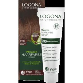 Krémová farba na vlasy s Hennou gaštanovohnedá 150ml - Logona