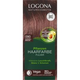Prášková Henna na vlasy Tmavo hnedá 100g - Logona