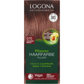 Prášková Henna na vlasy gaštanová 100g - Logona