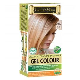 Gélová farba na vlasy s Hennou Svetlá Blond 8.0 - Indus Valley