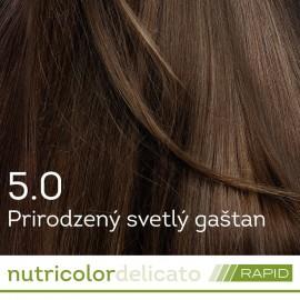 Farba na vlasy Nutricolor Delicato RAPID Prirodzený svetlý gaštan 5.0 140ml - Biokap