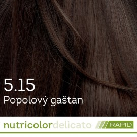 Nutricolor Delicato RAPID farba na vlasy - Popolový gaštan 5.15 140ml - Biokap