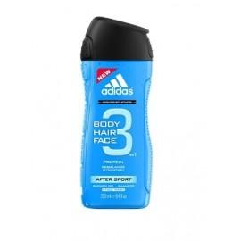 Adidas 3 Active After Sport Men 3v1 sprchový gél 250 ml