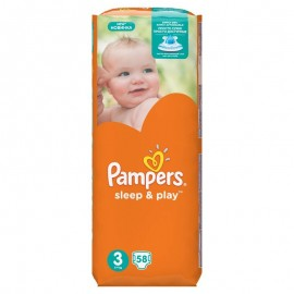 Pampers Sleep&Play junior 58ks