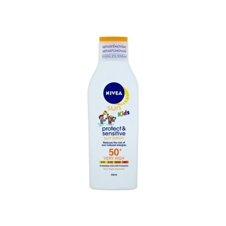 nivea sun kids mlieko 50+ sensitive 200 ml