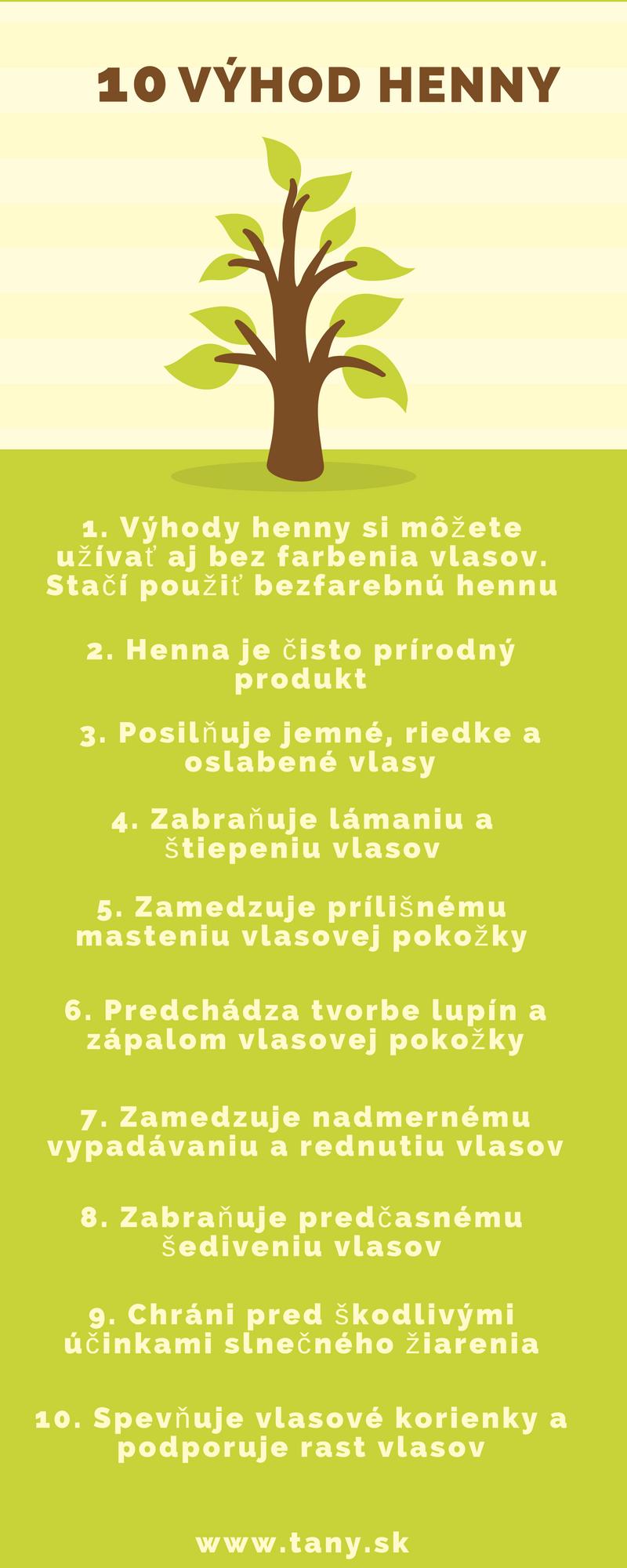 10 Výhod Henny
